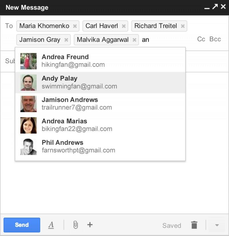Novo formato de enviar e-mails do gmail
