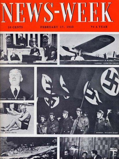 Newsweek, revista de 80 anos de idade se torna uma publicação exclusivamente online. Sua primeira edição de 17/02/1933 mostra 7 fotos em sua capa, uma para cada dia da semana.