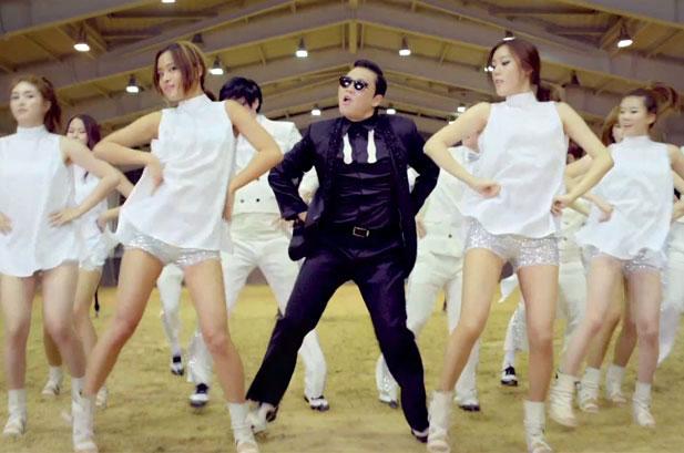 O psy Gangnam Style foi o líder no Brasil e no mundo nas músicas (Reprodução)