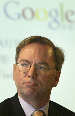 CEO do Google, Eric Schmidt, alfinetou rival em coletiva (Reprodução)