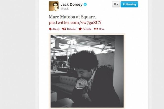 Conta de Jack Dorsey, um dos proprietários do Twitter, mostrou a ferramenta (Reprodução)