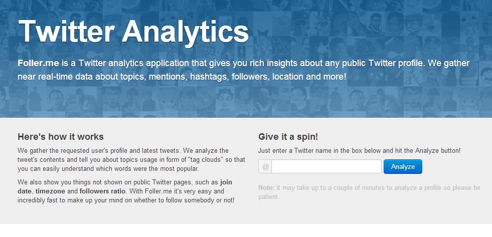 Follow me, ótima ferramenta para monitorar o Twitter.