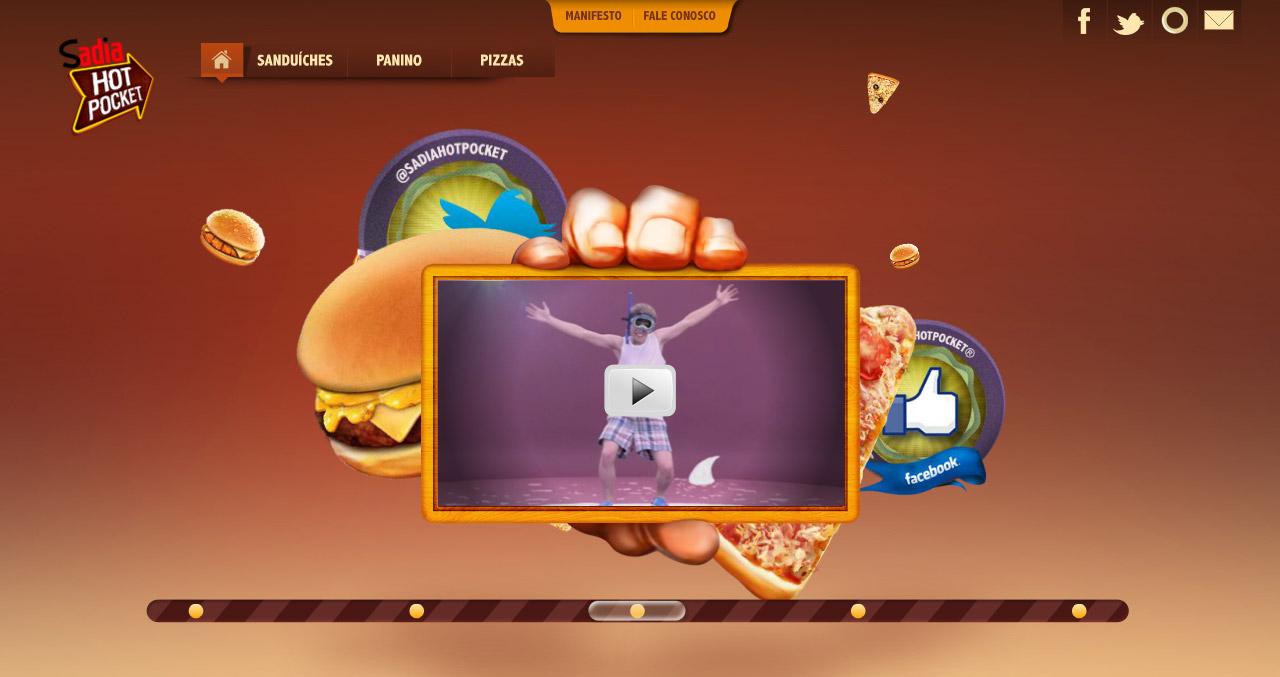 Um bom exemplo de hot site é o construído para o congelado Hot Pocket