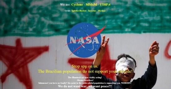 Site da NASA foi invadiado por hackers brasileiros