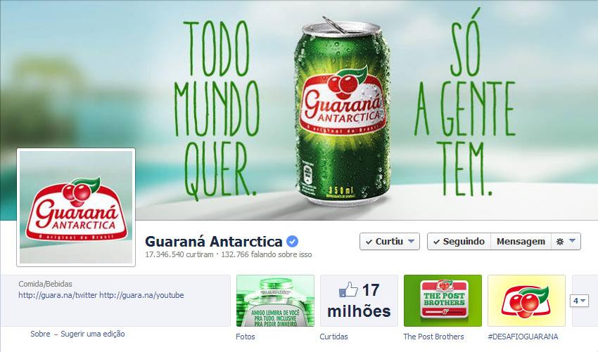 Quanto será que cresce o alcance de um post marcando a fan page do Guaraná Antártica?