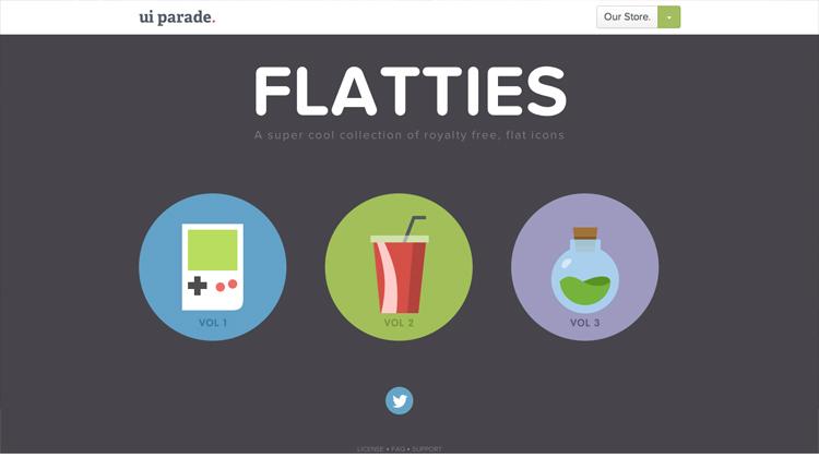 O Flat Design vai ser muito visto em web sites este ano!