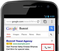 Inclua seu telefone nos seus anúncios de Google AdWords